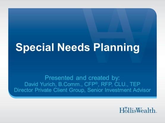 Special Needs Planning Presentation